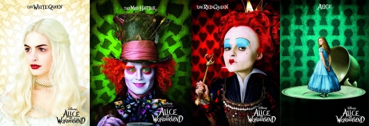Reina Blanca - Sombrerero - Reina Roja - Alicia